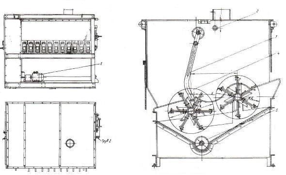 Схема скребмашины К7-ФУ2-Щ